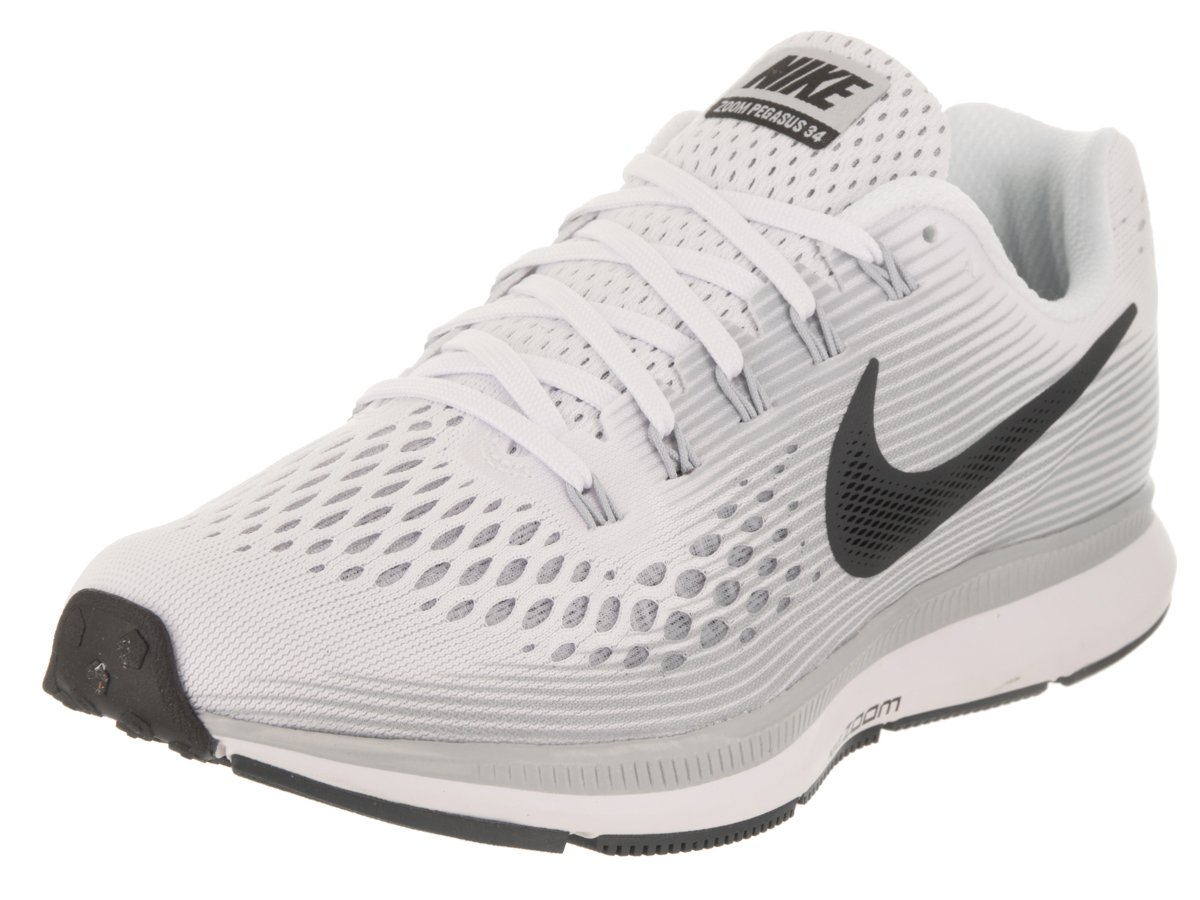 NIKE Women's Air Zoom Pegasus 34 White/Anthracite Pure Platinum Running Shoe 9 Women US