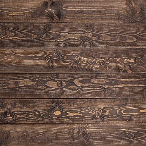 Yeele木製床の背景幕5 x 5ft/1.5 X 1.5 Mブラウン木製床水平ストライプ画像大人用芸術的肖像写真の撮影小道具写真撮影背景   B07F9WJNB2