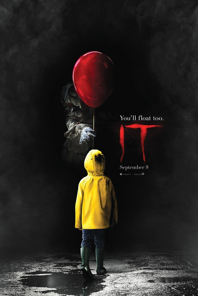 IT (2017 Movie Poster) Stephen King - Pennywise - 24in x 36in