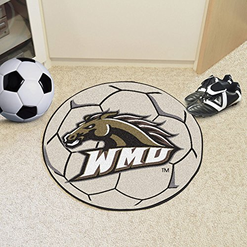 Fanmats Sports Team Logo Western Michigan University Soccer Ball (Soccer Ball University Michigan)
