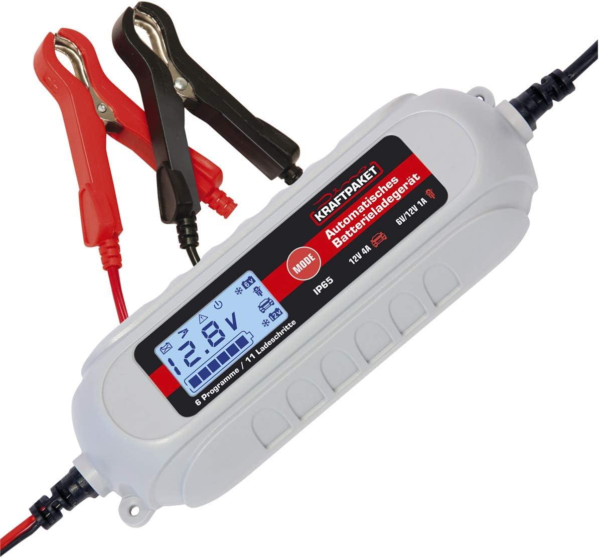 Dino Kraftpaket 136311 4a 6v 12v Batterieladegerät Mit Batterietester Ip65 Für Kfz Auto Motorrard Quad Atv Boot Auto