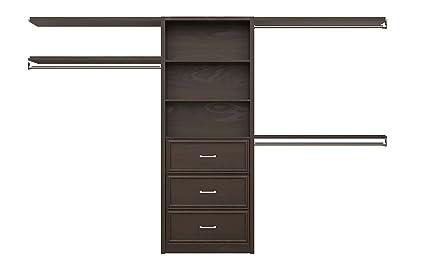 ClosetMaid 6106540 Spacecreations 127u0026quot; Wood Closet Organizer Kit,  56 Inch To 127