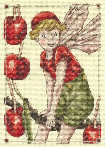 DMC Cross Stitch Kit - Flower Fairies - The Cherry Fairy