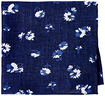 VAN HEUSEN Men's Floral Pocket Square Floral Pocket Square, Blue (Indigo Flowers), One size