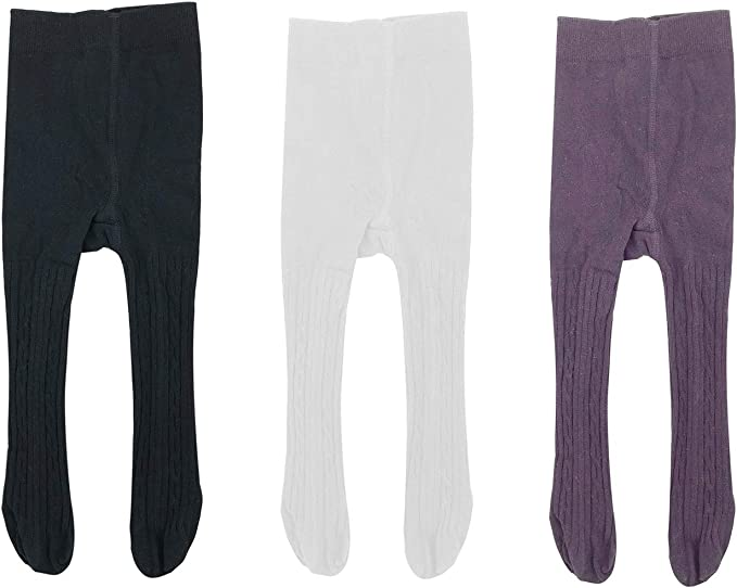 Girls Toddler Purple Winter Cotton Rich Tights Age 1-2 Years