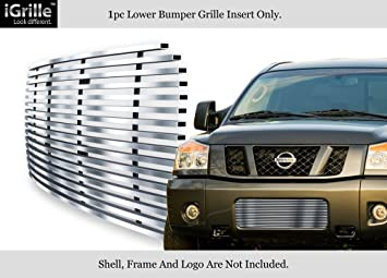 Fits 08-15 2015 Nissan Titan Bumper Stainless Steel Billet Grille Insert