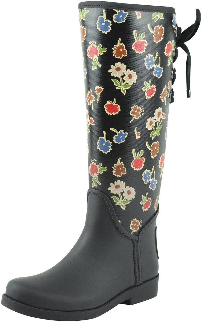 Coach Women¡¯s Tristee Black Black Multi Floral Rain Boots 9 (B)M, Style A01567 by Coach