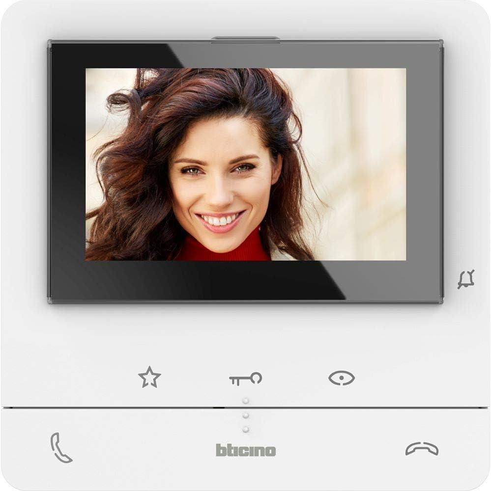 2 touches physiques et 3 /à floraison plus 4 personnalisables Bticino 344672 Classe 100 Interphone vid/éo 2 fils mains libres avec Teleloop et /écran LCD couleur 5
