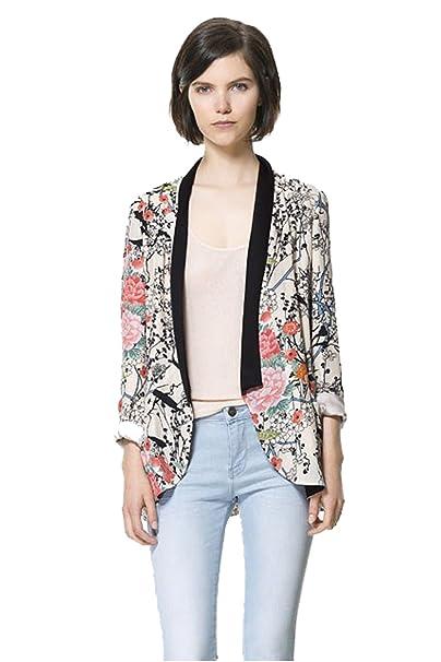 Zeagoo® Mujer Abrigo Chaqueta Kimono Floral Cap Boho Hippie vrac - Retro - en muselina de seda - 2015 moda Multicolor multicolor: Amazon.es: Ropa y ...