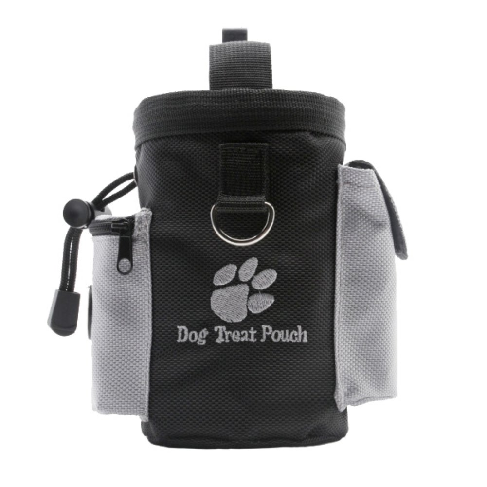 Homedeco Dog Treat Pouch Agility Training Bag Carry Pets Toys with Waste Bags Dispenser Adjustable Waist Belt & Shoulder Strap, Hands Free Carries for Walking