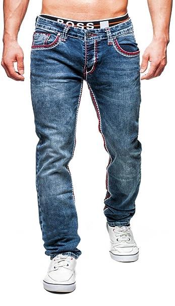 Cipo & Baxx Herren Jeans Hose Dicke Naht Modern Denim Slim