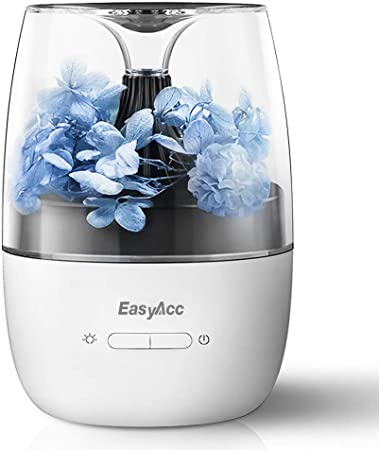 EasyAcc 130ml Essential Oil Aromatherapy Diffuser Humidifier 30dB Quiet Operation for USB Powered 6 Color LED Water less Automatic Shut Off 8 16 Hour