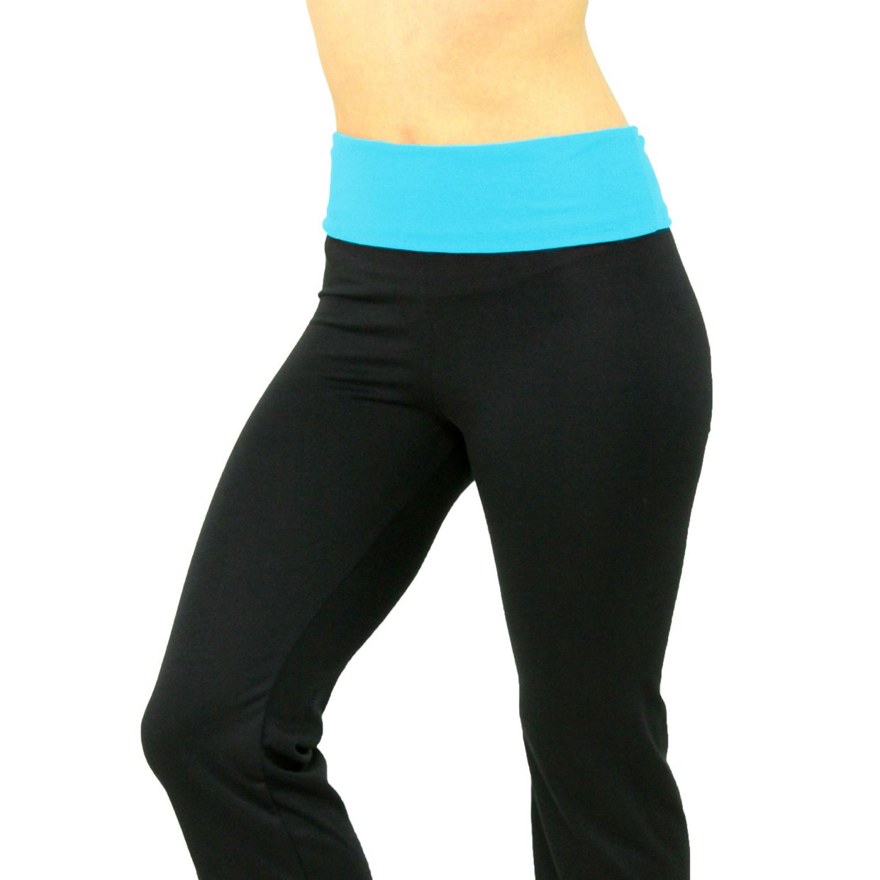 Stretch is Comfort Women's Foldover Plus Size Yoga Pants at Amazon ...