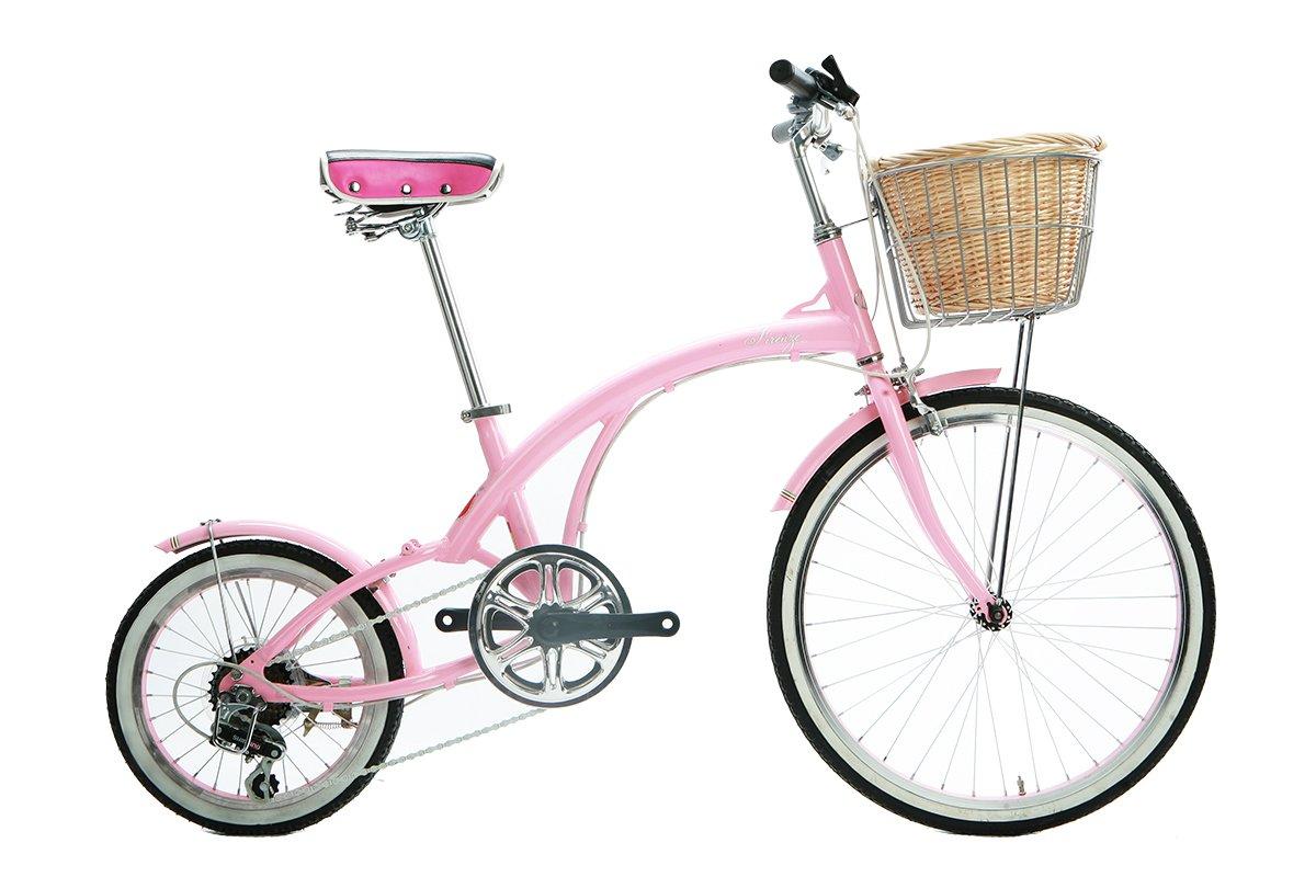 Alton Corsa Flora 24'' x 16'' Wheel 6-Speed Alloy Frame Bike, Pink, 12.5''/One Size