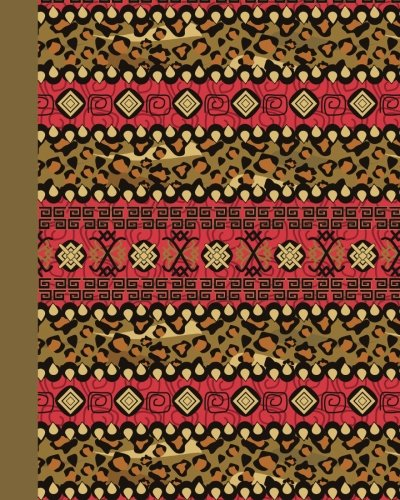 Sketch Journal: Tribal Pattern 8x10 - Pages are LINED ON THE BOTTOM THIRD with blank space on top (8x10 Patterns & Designs Sketch Journal Series) by CreateSpace Independent Publishing Platform