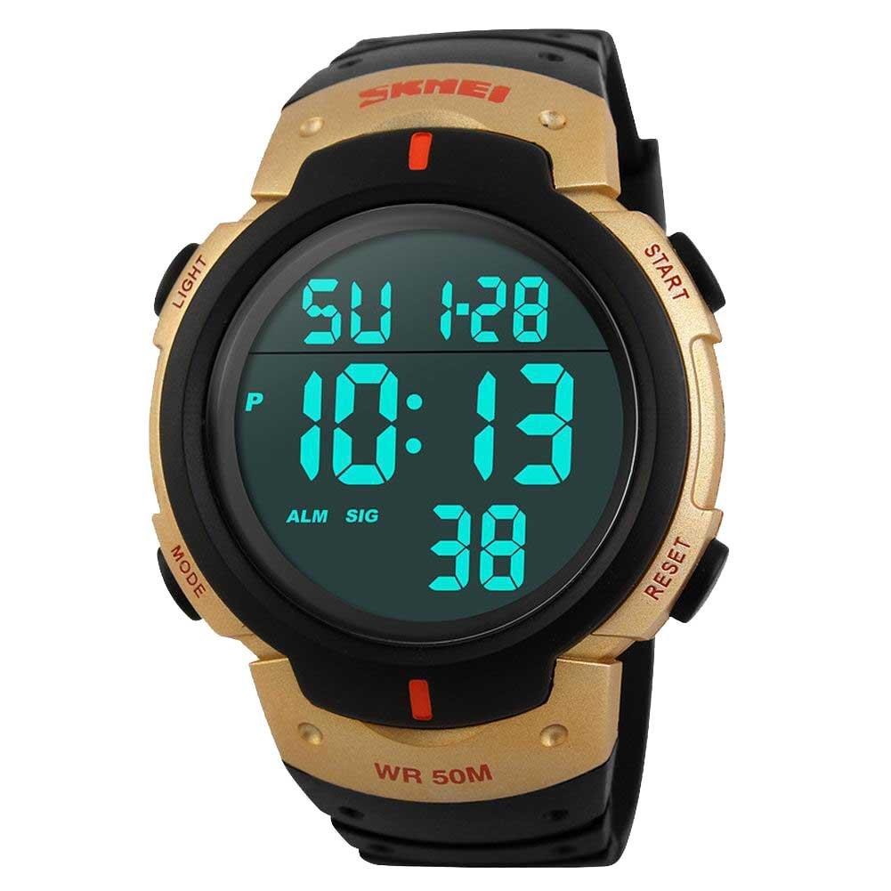 225a1d5f0 Amazon.com: Skmei Men Outdoor Sports Military LED Digital Watch 5ATM Dive  Swim Dress Fashion Boys Wristwatches Grey: Watches