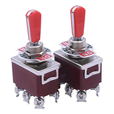 -1021-RR Heavy Duty Rocker Toggle Switch 16A 250V 20A 125V SPST ON//Off Switch with 2 Red PC Wear-Resistant Handle 2Terminal 2 Position mxuteuk 2pcs Ten c 2 Years Warranty