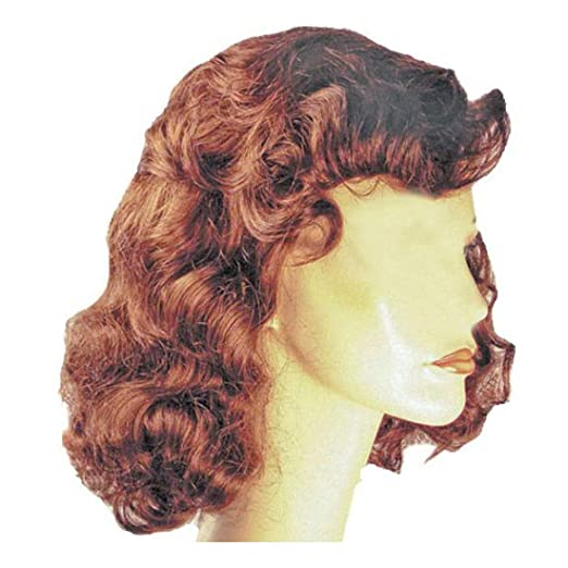 1940s Hairstyles- History of Women's Hairstyles 1940s Vamp Bette Davis Color Ash Blonde - Lacey Wigs Womens Hollywood Forties Movie Star Bundle Costume Wig Care Guide $39.89 AT vintagedancer.com