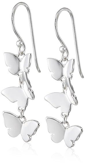 Elements Silver E3981B Ladies' Grey Cultured Pearl Heart Drop Sterling Silver Earrings 579whe9v