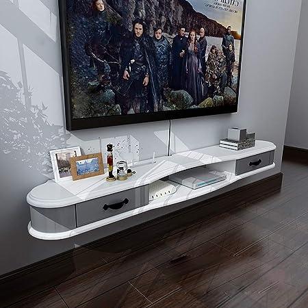 Televisión Moderno Stand de TV Gabinete Estante montado en la Pared Minimalista de 140 cm Mueble