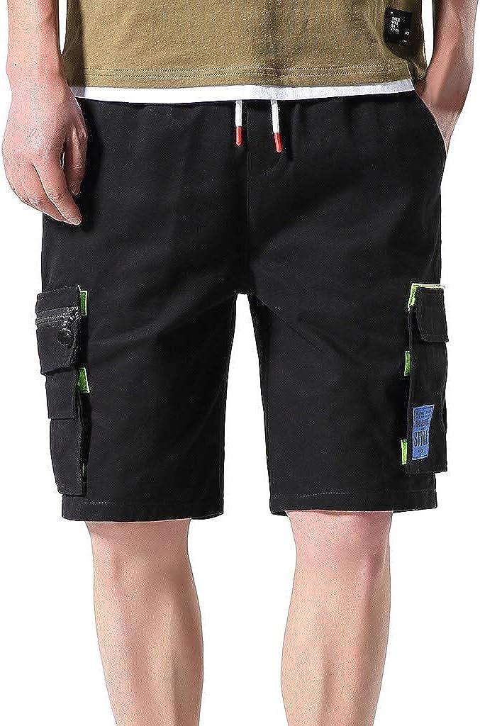 Airwalk Mens Combat Knee Length Summer Pants Zip Up Double Pocket Cargo Shorts