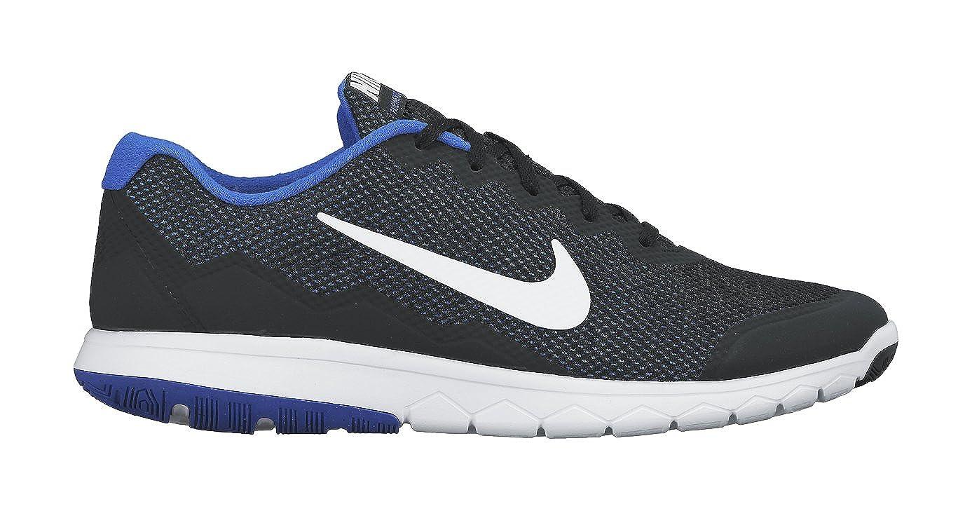 6f81b7ac08dc Nike Men s Flex Experience RN 4 (Black White Racer Blue White) Running Shoe