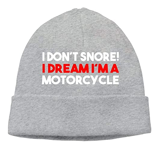 06cd55cacdc Unisex I Don t Snore I Dream I m A Motorcycle Knitting Hat