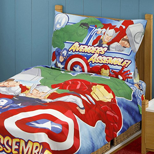 Marvel Avengers Heroes Assemble Toddler Bedding Set, Multi