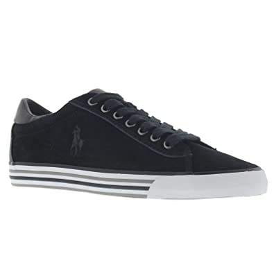 Ralph Lauren Mens Harvey SK VLC Black Suede Trainers 9.5 UK