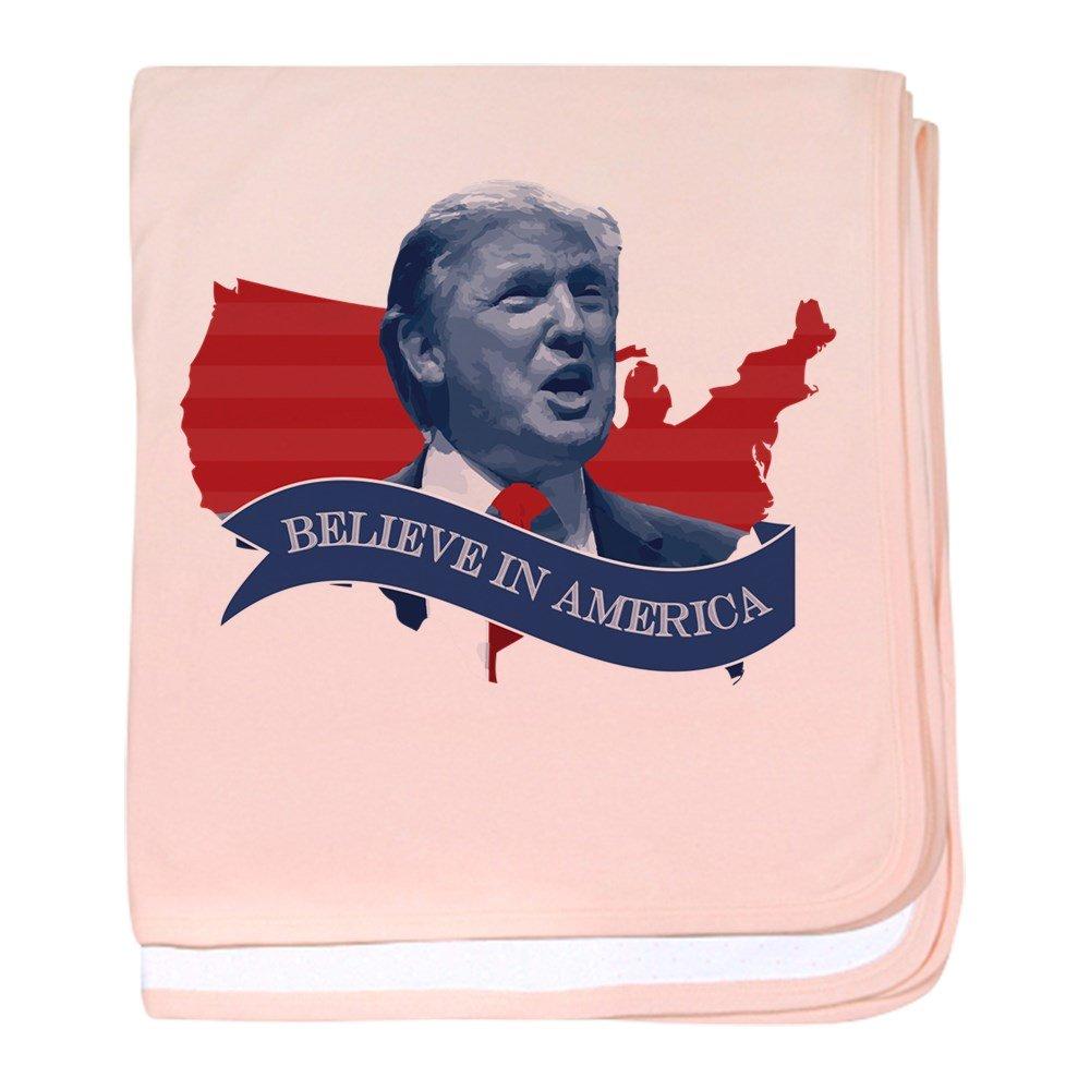 CafePress – Believe In America – ドナルドトランプ – スーパーソフトベビー毛布、新生児おくるみ ピンク 18427594596832E  ペタルピンク B01JALVM1U