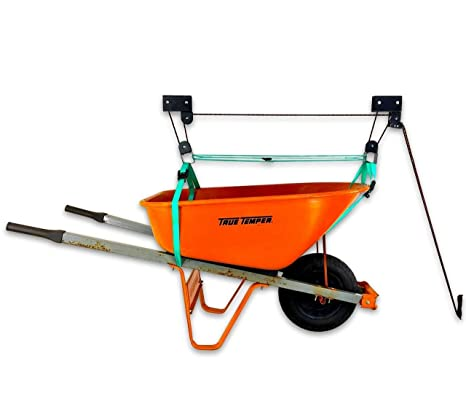 Amazon com: StoreYourBoard Wheelbarrow Ceiling Storage Hoist
