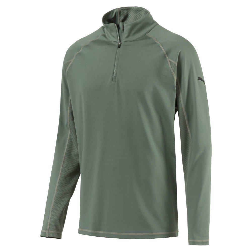 Puma Herren 572366 Core 1 4 Popover Shirt, mittel, Lorbeerkranz, der Quarter Zip