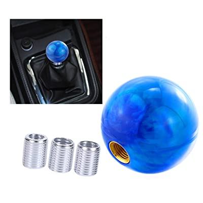 Arenbel Round Ball Shift Knob Car Gear Stick Shifting Shifter Weighty Handle Head fit Most Manual Automatic Vehicle, Blue: Automotive
