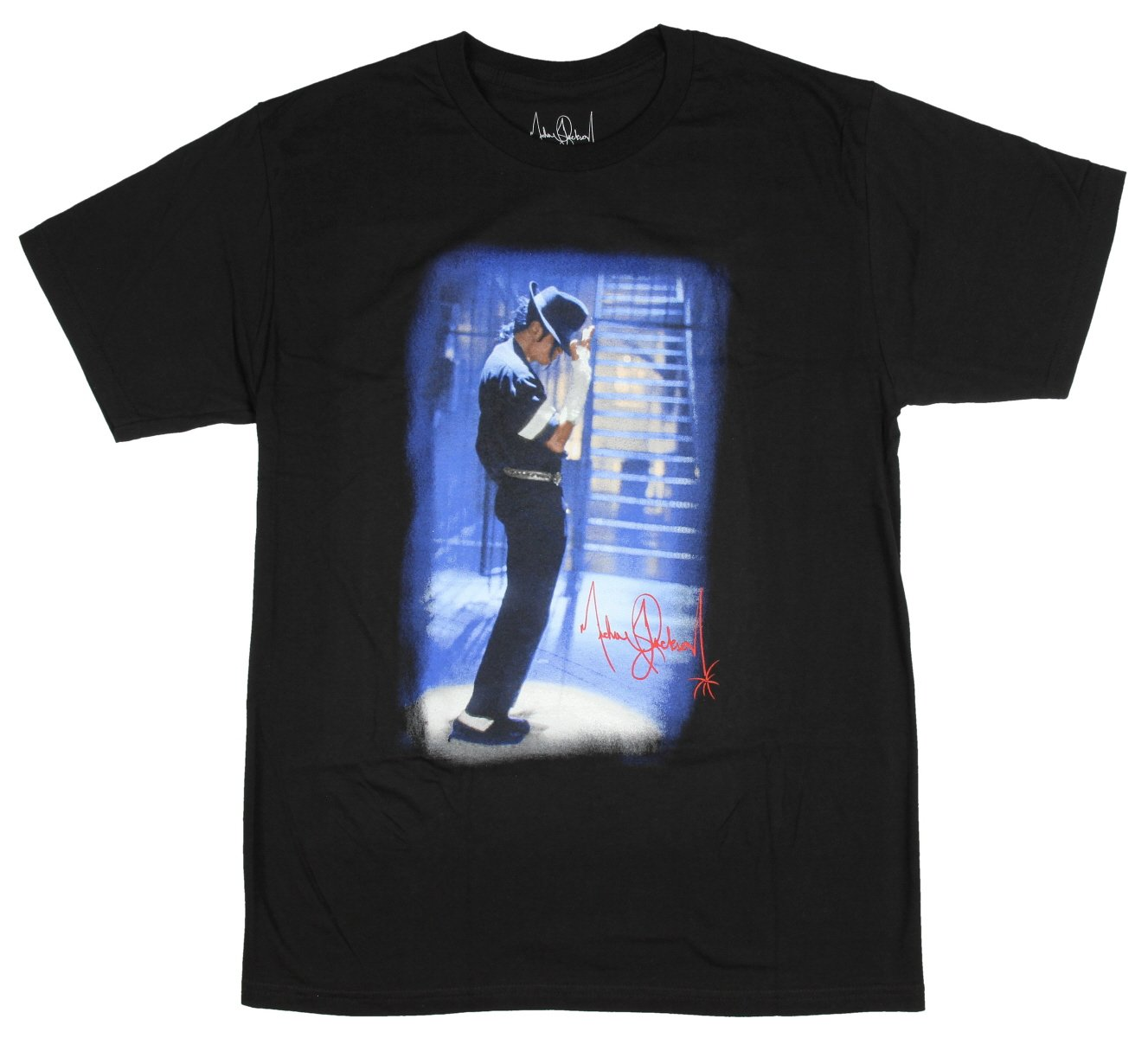 Michael Jackson T Shirt The King of Pop Men's Graphic Logo Black Tee Medium