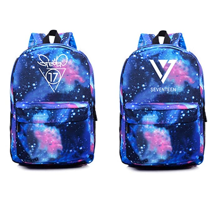 Amazon.com: Kpop Seventeen Backpack Vernon Wonwoo Woozi Dino Schoolbag Starry Sky Satchel: Sports & Outdoors