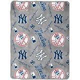 MLB New York Yankees Royal Plush Throw, 50 x 60 Inches
