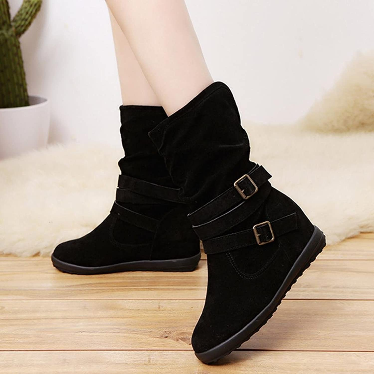 Ankle Boots Women, Xinantime Ladies Low Wedge Buckle Biker Ankle Trim Flat  Shoes: Amazon.co.uk: Shoes & Bags
