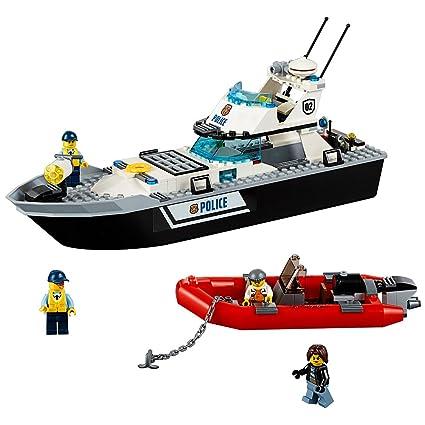 Amazon.com: LEGO City Police Patrol Boat 60129 Building Toy: Toys ...