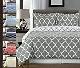 Best Royal Hotel duvet cover - Gray and White Meridian 3-piece Full / Queen Review