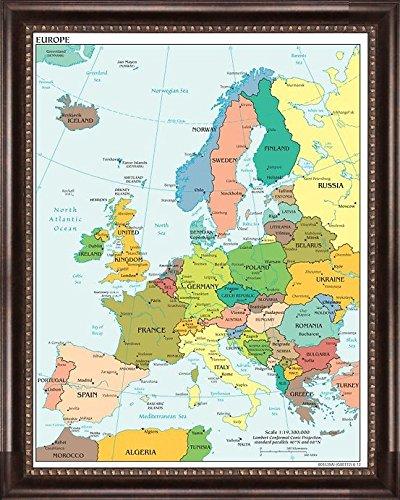 Amazon.com: Europe Push Pin Travel Map 24\