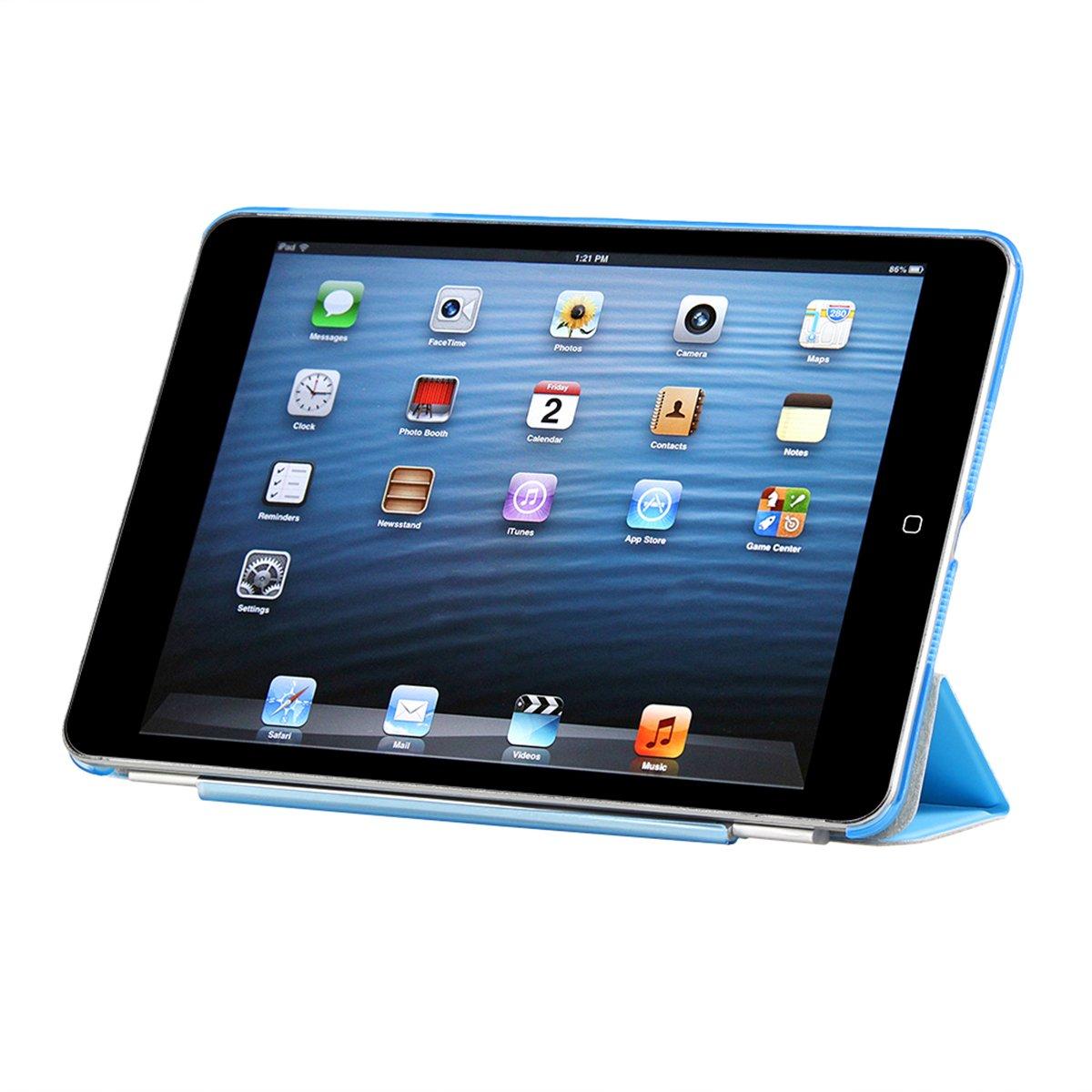 con Panno di Pulizia,Pellicola Protettiva /&Pennino A1474 A1475 CoastaCloud? iPad Air 1 Smart Cover Magnetica Custodia Traslucido Indietro per iPad Air 1 Blu