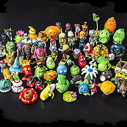 60ps/Set New Plants vs  Zombies 2 Dolls Anime Action Figure PVZ PVC Kids  Gift