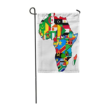 African Union Map.Amazon Com Semtomn Garden Flag African Union On Actual Vintage