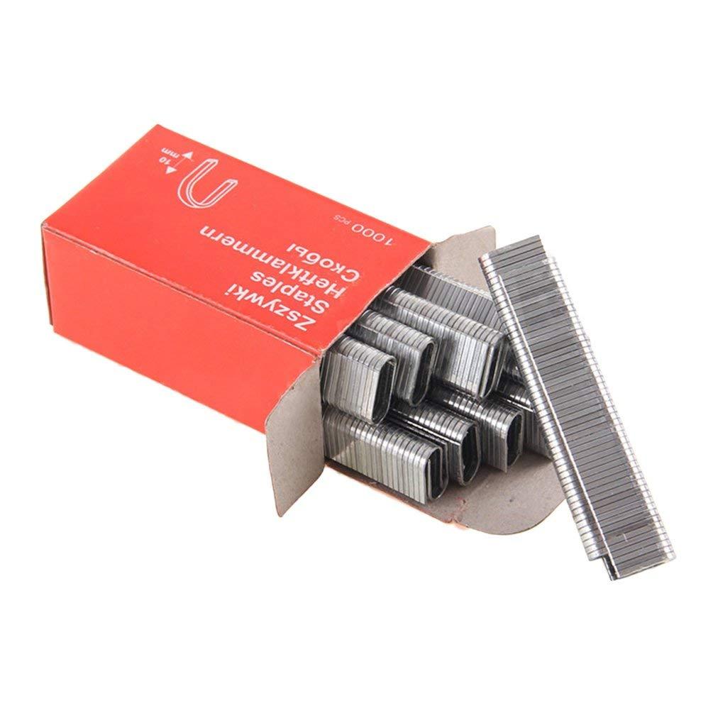 1000Pcs U-Shaped Staples 1.2MM Clous Inoxydable Épais Pour Encadrement Tacker Agrafeuse À Main Accessoires De Charpentier Outil - Argent Oyamihin