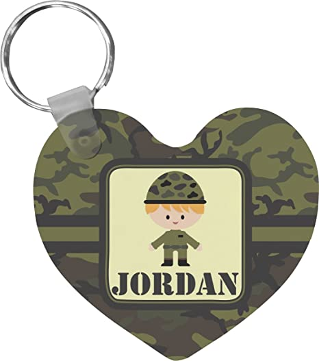 Green Camo Heart Keychain (Personalized) at Amazon Women s Clothing ... c37df1b75
