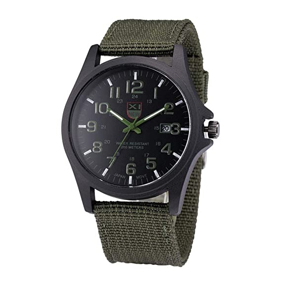 Military Watches for Men DYTA Outdoor Watches Army Racing Force Sport Watches on Sale on Clearance Canvas Strap Luxunry Wrist Watchs Alloy Cases Casual ...