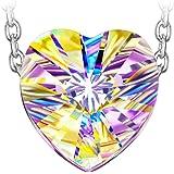 J NINA Aurora 925 Sterling Argent Collier Femme Pendentif Cœur composés de cristaux Swarovski avec Boîte-Cadeau, Sans Nickel Qualification de SGS