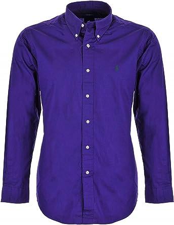 Ralph Lauren camisa para hombre de piel color morado M: Amazon.es: Ropa y accesorios