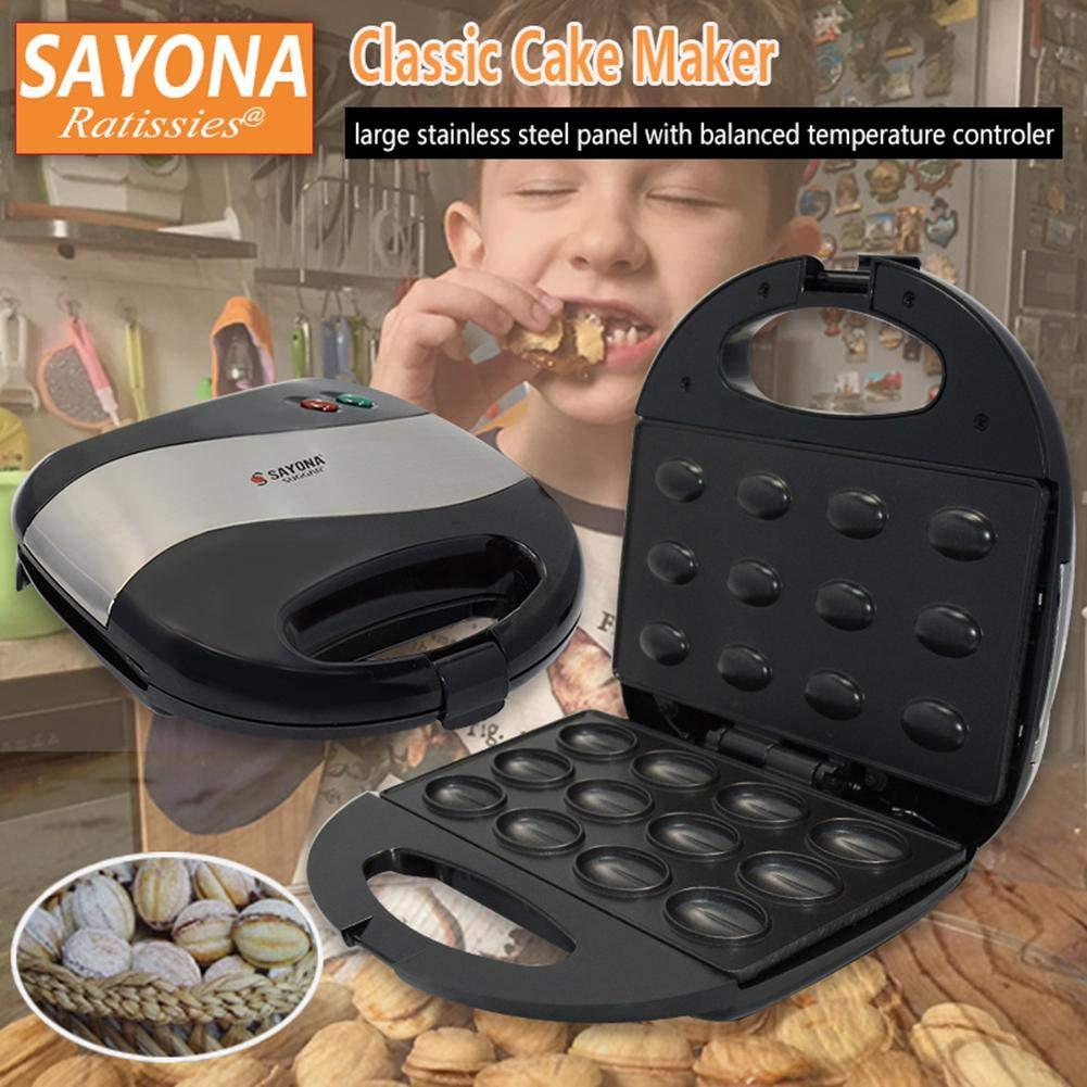 hullonguuo Cake Maker User Manual SAYONA Household Electric Walnut Cake Maker Sandwich Breakfast Machine by hullonguuo (Image #2)