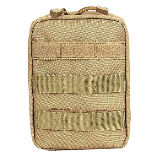 Universal Multipurpose Tactical Cover Holster Edc Security Pack Carry Case Pouch Belt Waist Bag With Cell Phone Holster Holder  Tan